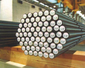Carbon Steel Round Bars in our stockyard